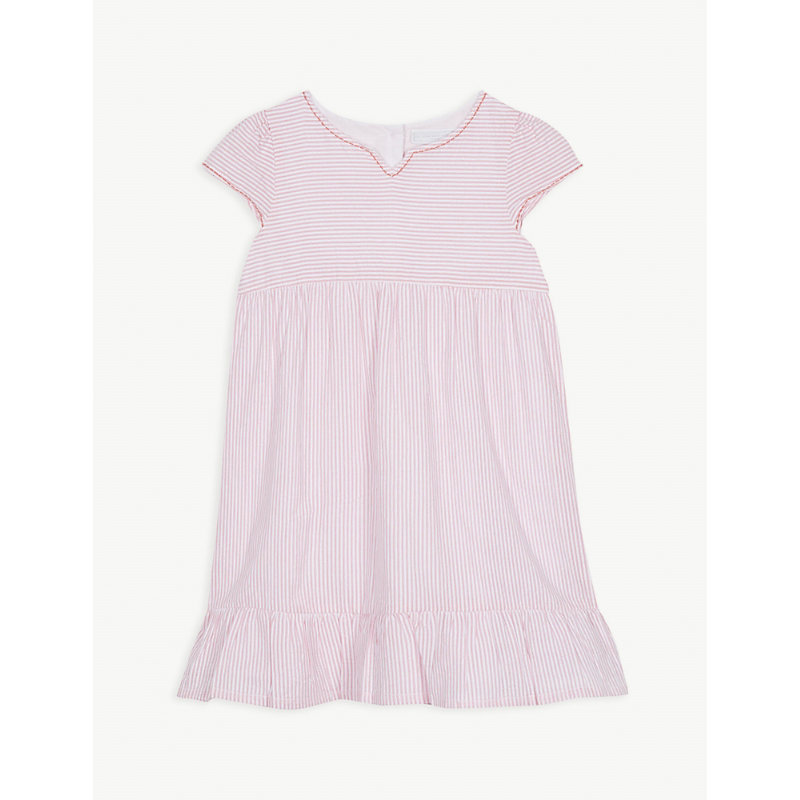 THE LITTLE WHITE COMPANY | Striped Tier Cotton Dress 1-6 Years | Goxip