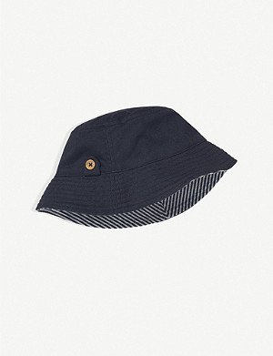 THE LITTLE WHITE COMPANY Reversible cotton sunhat