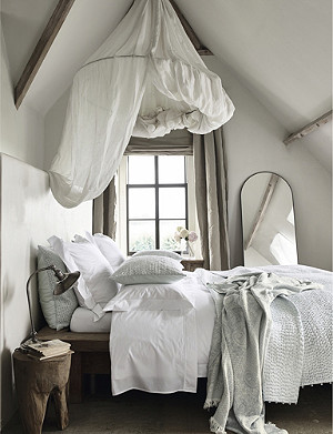 THE WHITE COMPANY Savoy cotton double duvet cover 220cm x 200cm
