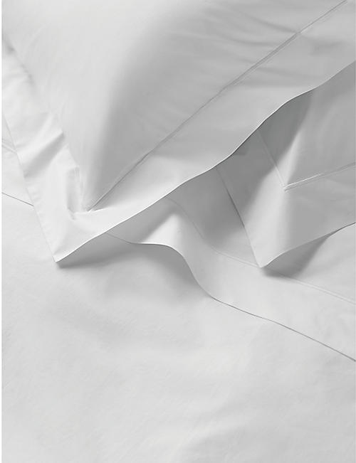 THE WHITE COMPANY Savoy cotton super king flat sheet 305cm x 275cm