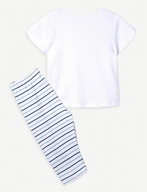 0e0308c39 THE LITTLE WHITE COMPANY Transport & Stripe cotton pyjama set 0-24 months