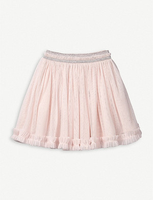 THE LITTLE WHITE COMPANY Frilled tulle tutu skirt 0-24 months