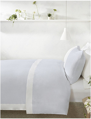 THE WHITE COMPANY Portobello double cotton-sateen duvet cover 200x200cm
