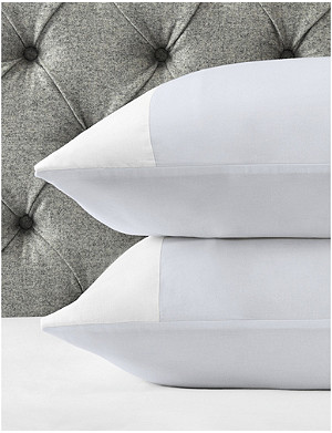 THE WHITE COMPANY Portobello standard cotton-sateen classic pillowcase 50x75cm