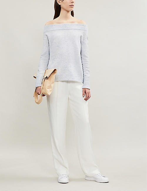 THE WHITE COMPANY Off-the-shoulder knitted jumper