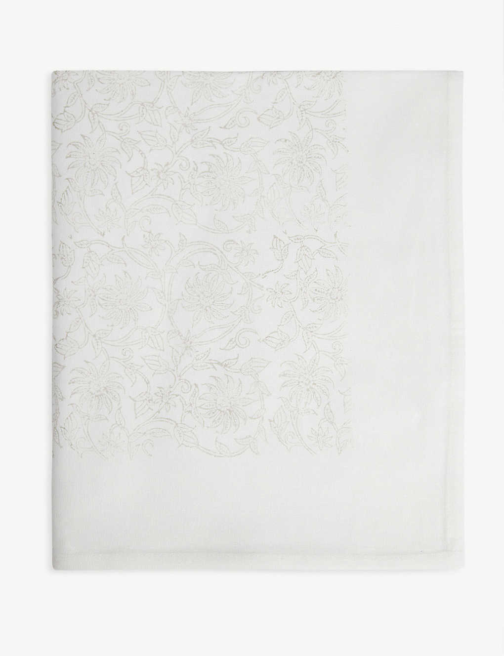 THE WHITE COMPANY: Block print tablecloth 140cm x 230cm