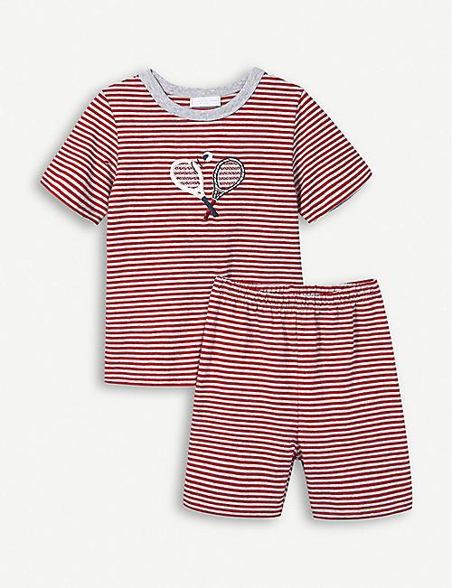 5f718ba462 THE LITTLE WHITE COMPANY Tennis stripe cotton pyjamas 1-6 years