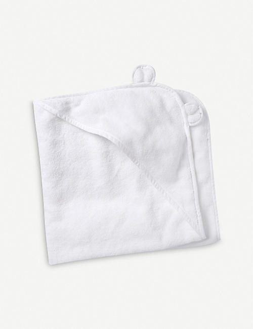 THE LITTLE WHITE COMPANY: Hydrocotton hooded teddy bear towel