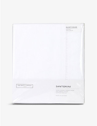THE WHITE COMPANY: Santorini cotton double duvet cover 200cm x 200cm