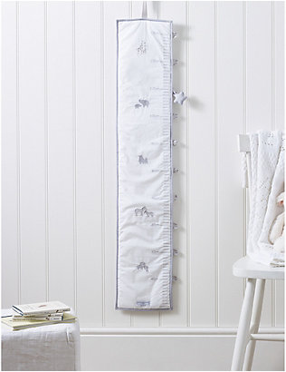 THE LITTLE WHITE COMPANY: Noah's Ark woven height chart 130cm