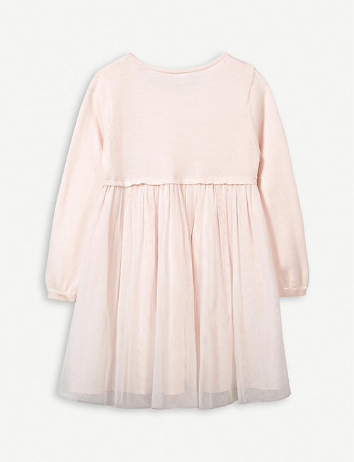 THE LITTLE WHITE COMPANY Knitted tulle dress 1-6 years