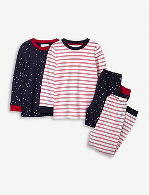 THE LITTLE WHITE COMPANY Stars and Stripes cotton pyjamas set of two 1-12 years