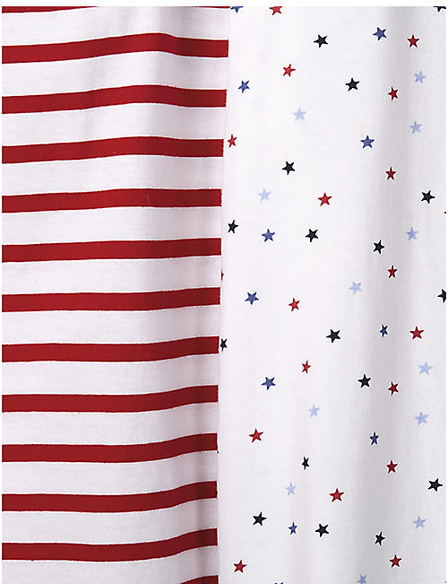 THE LITTLE WHITE COMPANY Star and stripe cotton set of 2 pyjamas 1-12 years