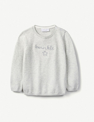 THE LITTLE WHITE COMPANY Twinkle cotton-blend jumper 0-24 months
