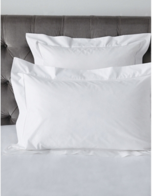 THE WHITE COMPANY Cavendish cotton super king pillowcase 90x50cm