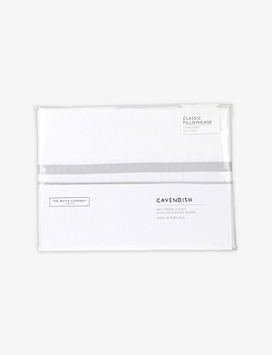 THE WHITE COMPANY Cavendish Classic cotton standard pillowcase 50cm x 75cm
