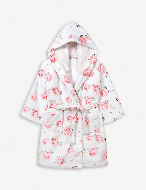 THE LITTLE WHITE COMPANY VINTAGE ROSE ROBE