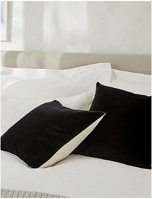 THE WHITE COMPANY The White Company velvet and linen cushion cover 30x50cm