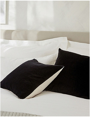 THE WHITE COMPANY The White Company velvet and linen cushion cover 50x50cm