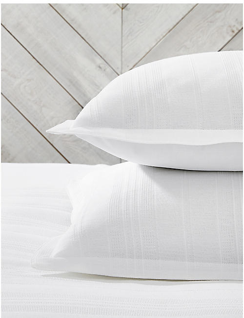 THE WHITE COMPANY Salcombe 200-thread-count cotton percale superking oxford pillowcase 75cm x 50cm