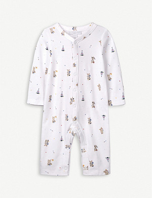 THE LITTLE WHITE COMPANY Warrior bear-print newborn gift set