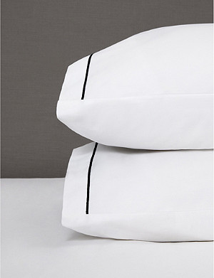 THE WHITE COMPANY Single Row cord Egyptian cotton classic pillowcase 75cm x 36cm
