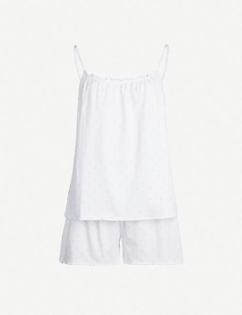THE WHITE COMPANY Woodblock-print cotton-jersey pyjamas