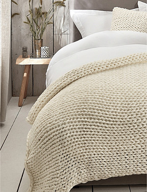 THE WHITE COMPANY Wilby chunky-knit throw 140cm x 200cm
