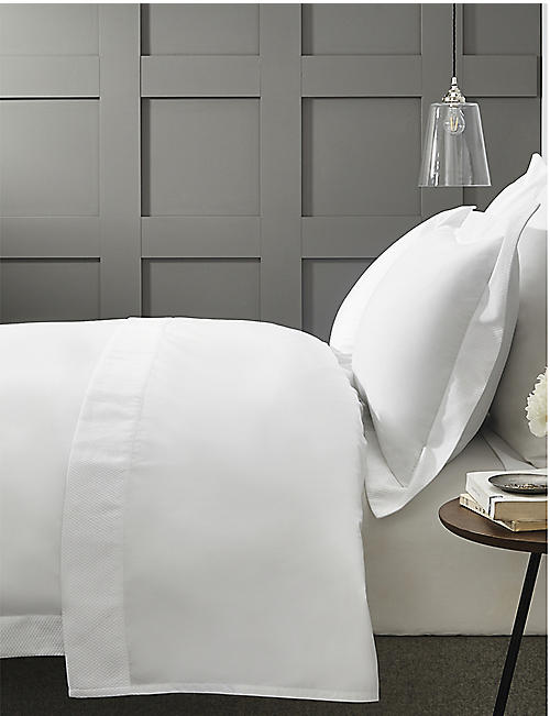 THE WHITE COMPANY Westborne cotton-piqué single bed cover 190cm x 250cm