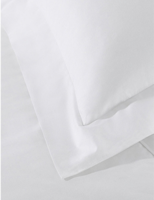 THE WHITE COMPANY Essentials egyptian-cotton superking deep fitted sheet 180cm x200cm