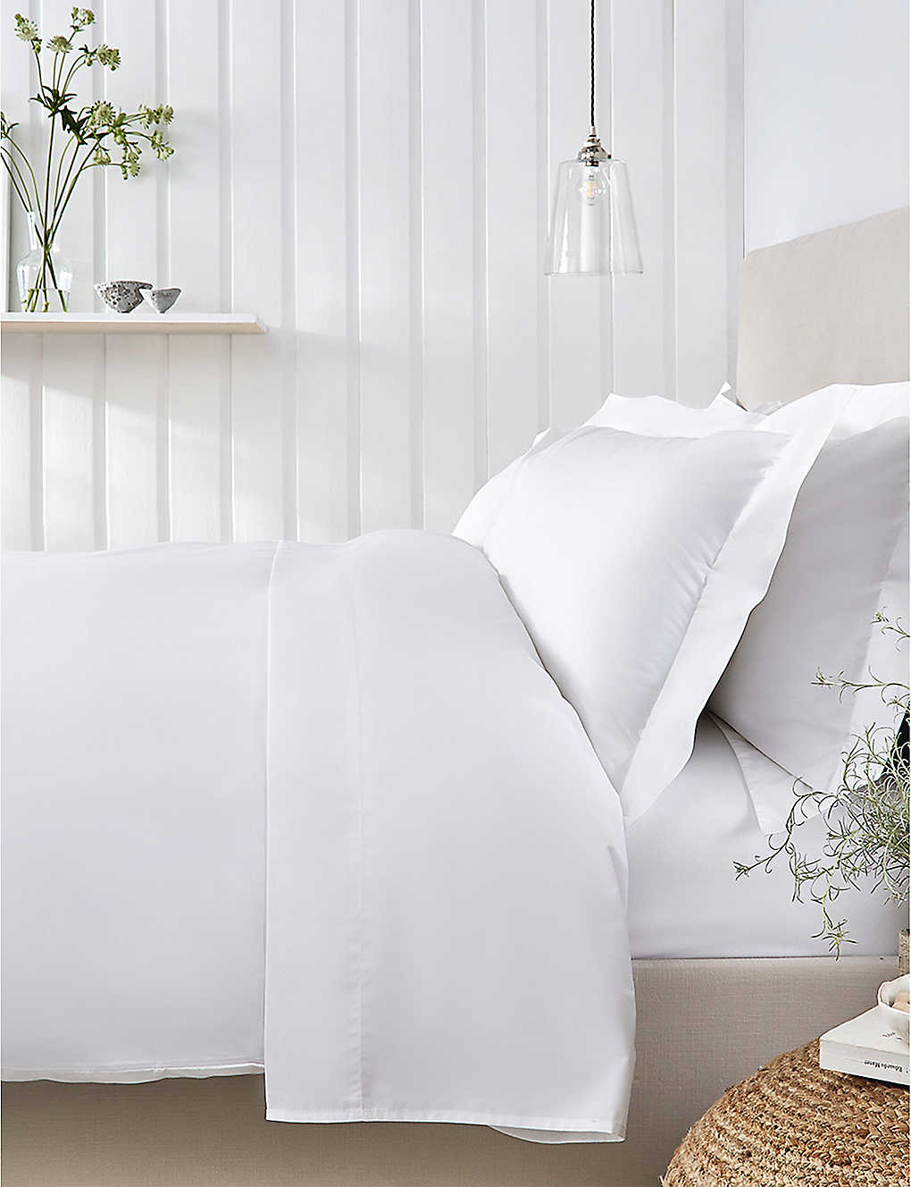 THE WHITE COMPANY: Essentials egyptian-cotton king size duvet cover 225cm x 220cm