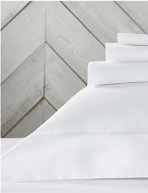 THE WHITE COMPANY Essentials egyptian-cotton king fitted sheet 90x190cm