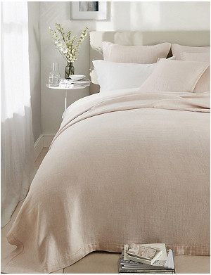 THE WHITE COMPANY Wilton cotton and linen-blend double bedpsread 240x250cm