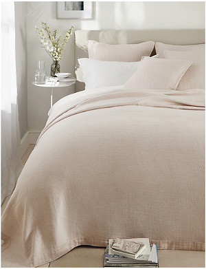 THE WHITE COMPANY Wilton cotton and linen-blend single bedspread 190x250cm