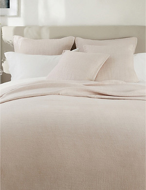 THE WHITE COMPANY Wilton cotton and linen-blend medium square cushion cover 50x50cm