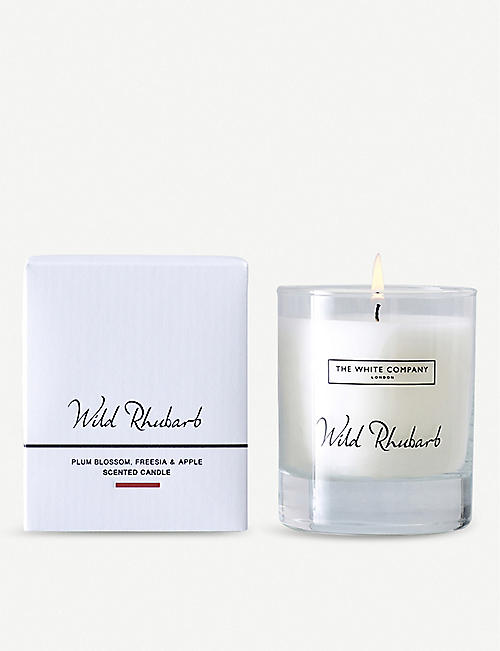 THE WHITE COMPANY: Wild Rhubarb candle 140g