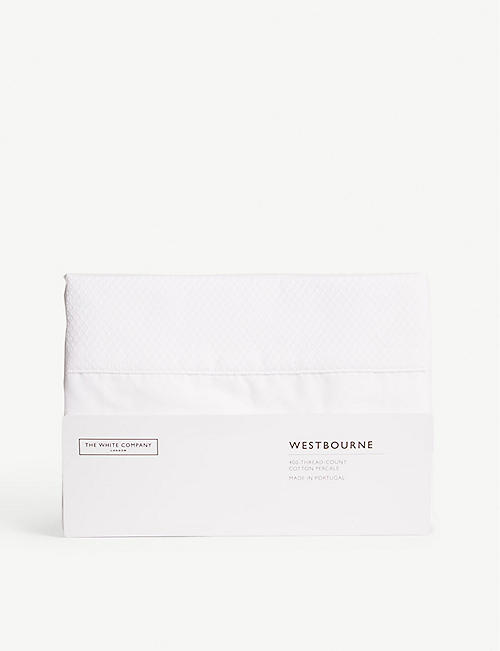 THE WHITE COMPANY Westbourne Oxford super king pillowcase 50cm x 90cm