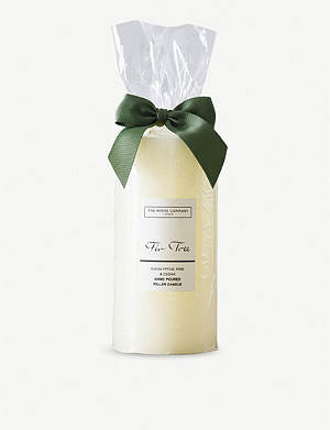 THE WHITE COMPANY Fir Tree scented pillar candle 560g