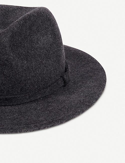 THE WHITE COMPANY Self-trim wool fedora hat