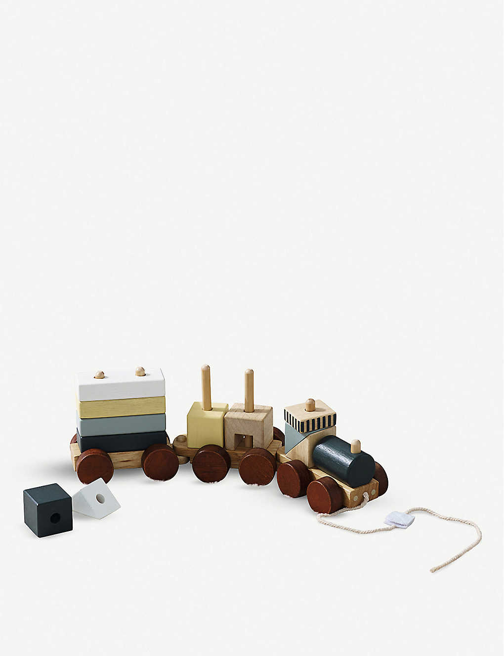 THE LITTLE WHITE COMPANY: Pull-along wooden train 36cm