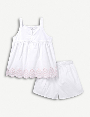 THE LITTLE WHITE COMPANY Broderie cotton pyjamas 1-6 years