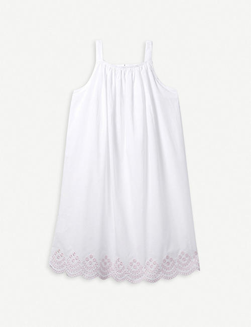 THE LITTLE WHITE COMPANY Broderie cotton nightdress 1 -12 years