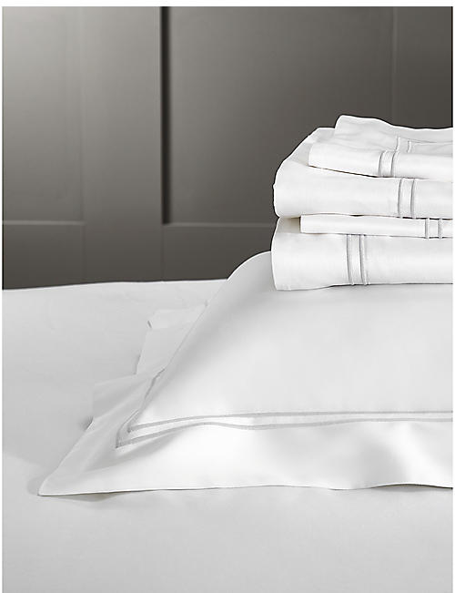 THE WHITE COMPANY Symons double-row cord Egyptian cotton Superking duvet cover