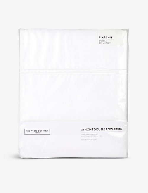 THE WHITE COMPANY: Symons Egyptian-cotton double flat sheet 230cm x 275cm