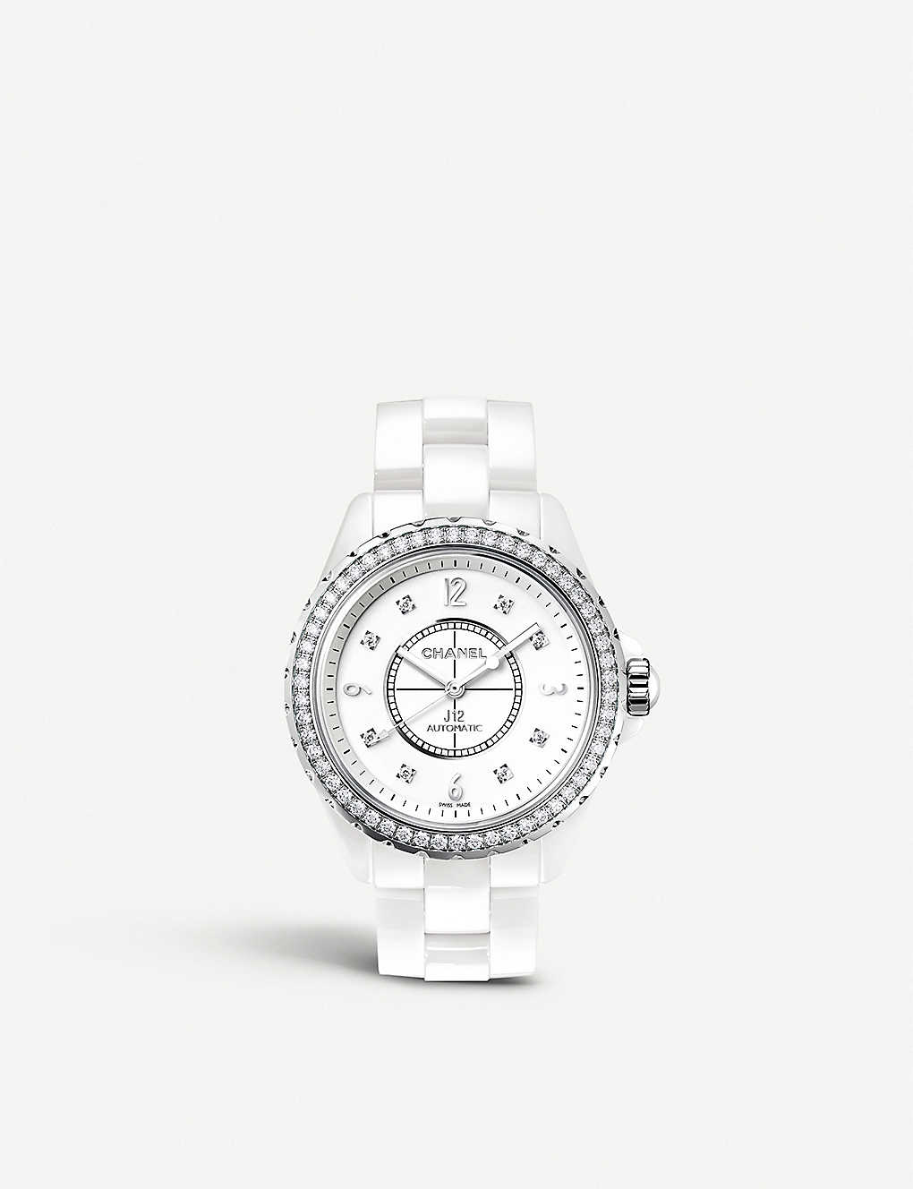 b8201e39 H3111 J12 33mm Diamonds high-tech ceramic, steel and diamond watch