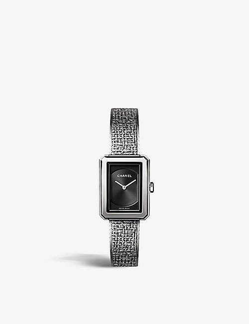 daf5ba1add62 CHANEL H4876 BOY•FRIEND Tweed Small Size steel watch