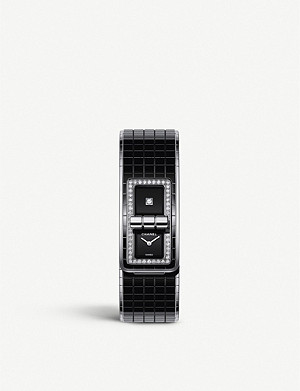CHANEL H5148 Code Coco steel, ceramic and diamond watch
