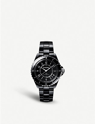 CHANEL: H5697 J12 automatic ceramic and steel watch