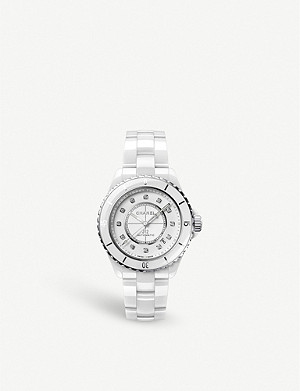 CHANEL H5705 J12 automatic diamond, ceramic and steel watch