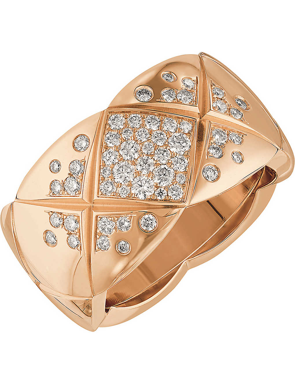 d7492d85c6076c CHANEL - Coco Crush 18K beige gold and diamond ring. Medium version ...